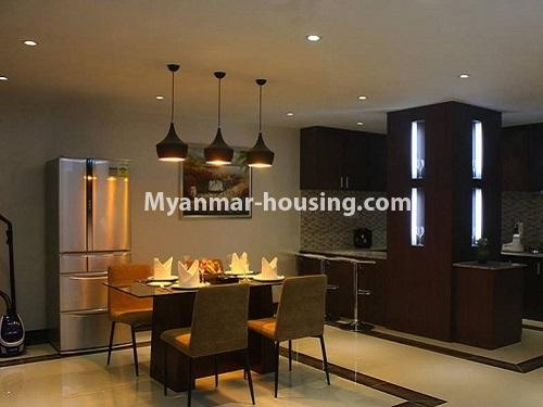 Myanmar real estate - for rent property - No.4272 - Golden Parami Condo room for rent in Hlaing! - living room view