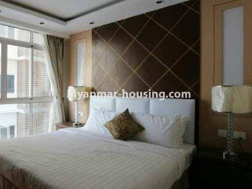 Myanmar real estate - for rent property - No.4272 - Golden Parami Condo room for rent in Hlaing! - master bedroom view