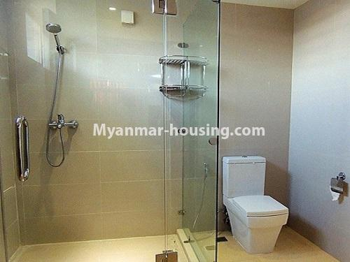 Myanmar real estate - for rent property - No.4272 - Golden Parami Condo room for rent in Hlaing! - bathroom view