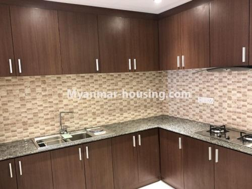 Myanmar real estate - for rent property - No.4272 - Golden Parami Condo room for rent in Hlaing! - kitchen view