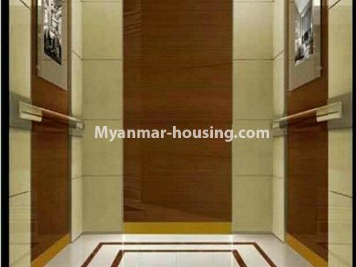 Myanmar real estate - for rent property - No.4272 - Golden Parami Condo room for rent in Hlaing! - lift view