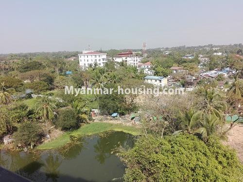 မြန်မာအိမ်ခြံမြေ - ငှားရန် property - No.4287 - အင်းစိန်တွင် ကွန်ဒိုခန်းသစ် ငှားရန်ရှိသည်။outside view