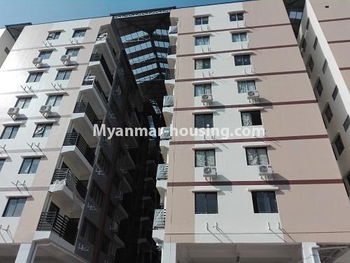 မြန်မာအိမ်ခြံမြေ - ငှားရန် property - No.4287 - အင်းစိန်တွင် ကွန်ဒိုခန်းသစ် ငှားရန်ရှိသည်။building view