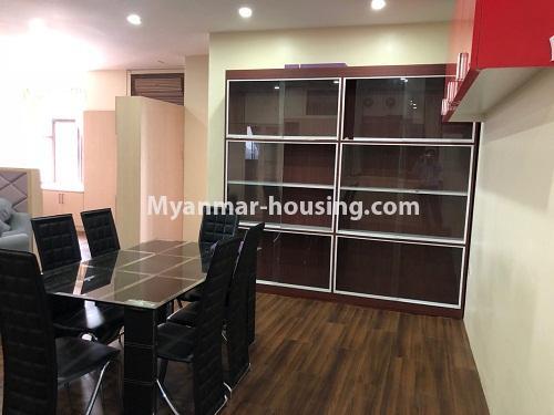 မြန်မာအိမ်ခြံမြေ - ငှားရန် property - No.4313 - မင်္ဂလာတောင်ညွန့် Green Lake ကွန်ဒိုတွင် အခန်းငှားရန်ရှိသည်။dining area