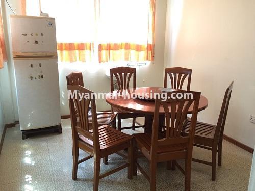 မြန်မာအိမ်ခြံမြေ - ငှားရန် property - No.4321 - တောင်ဥက္ကလာ မြသီတာအိမ်ရာတွင် လုံးချင်းငှားရန်ရှိသည်။ dining area