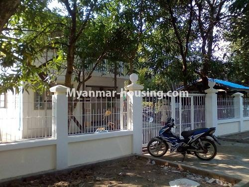 Myanmar real estate - for rent property - No.4340 - Landed house for rent in Thanlyin! - house and compound vew