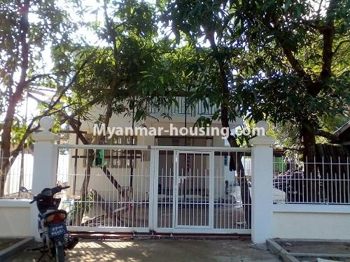 Myanmar real estate - for rent property - No.4340 - Landed house for rent in Thanlyin! - house and compound view