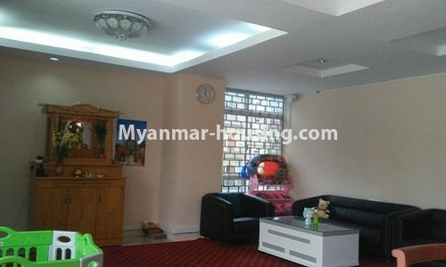 Myanmar real estate - for rent property - No.4364 - Yae Kyaw Complex condo room for rent in Pazundaung! - living room