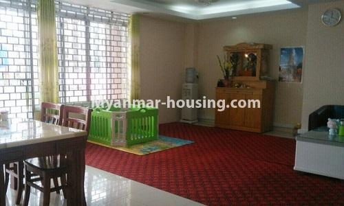 Myanmar real estate - for rent property - No.4364 - Yae Kyaw Complex condo room for rent in Pazundaung! - another view of living room