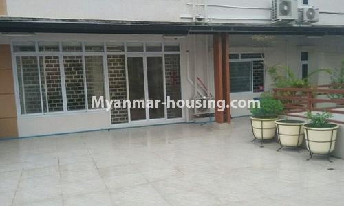 Myanmar real estate - for rent property - No.4364 - Yae Kyaw Complex condo room for rent in Pazundaung! - outside space