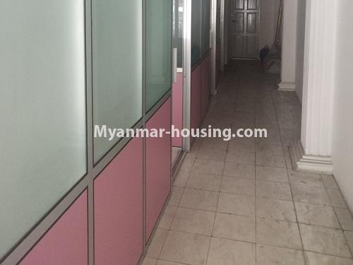 Myanmar real estate - for rent property - No.4373 - Ground floor for rent in Pazundaung! - room partition and corridor