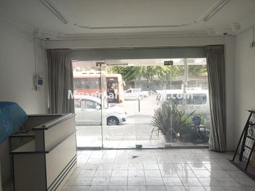 Myanmar real estate - for rent property - No.4373 - Ground floor for rent in Pazundaung! - hall and front view