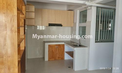Myanmar real estate - for rent property - No.4378 - New condominium room for rent in Dagon Seikkan! - kitchen