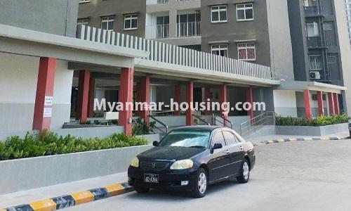 Myanmar real estate - for rent property - No.4378 - New condominium room for rent in Dagon Seikkan! - main gate