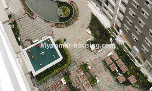 Myanmar real estate - for rent property - No.4378 - New condominium room for rent in Dagon Seikkan! - buliding view