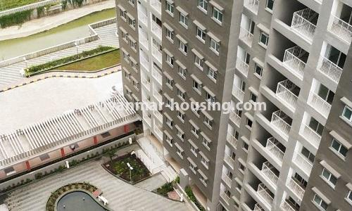Myanmar real estate - for rent property - No.4378 - New condominium room for rent in Dagon Seikkan! - building view