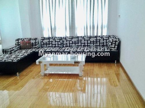 Myanmar real estate - for rent property - No.4398 - Zay Yar Thiri Condominium room for rent in Kamaryut! - living room