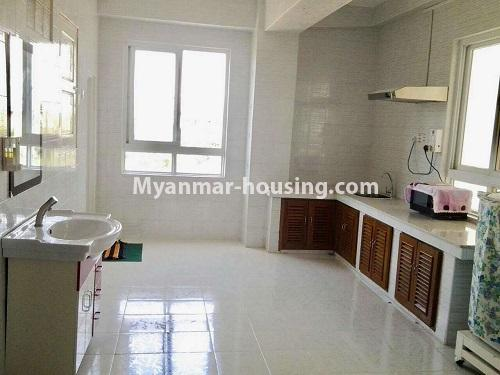 Myanmar real estate - for rent property - No.4398 - Zay Yar Thiri Condominium room for rent in Kamaryut! - kitchen