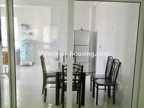 Myanmar real estate - for rent property - No.4398 - Zay Yar Thiri Condominium room for rent in Kamaryut! - dining area