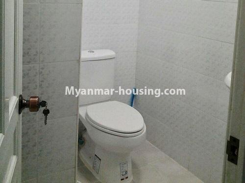 Myanmar real estate - for rent property - No.4398 - Zay Yar Thiri Condominium room for rent in Kamaryut! - master bedroom bathroom