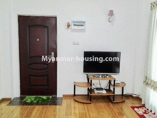 Myanmar real estate - for rent property - No.4398 - Zay Yar Thiri Condominium room for rent in Kamaryut! - another view of living room