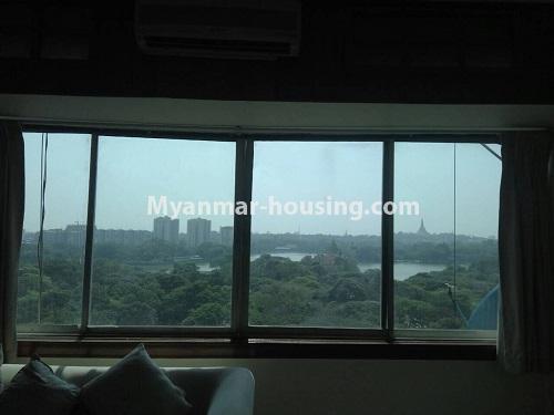 မြန်မာအိမ်ခြံမြေ - ငှားရန် property - No.4399 - တာမွေ ကန်တော်ကြီးဗျူးနှင့် ကွန်ဒိုအခန်းကောင်းကောင်း ငှားရန်ရှိသည်။outside view from master bedroom