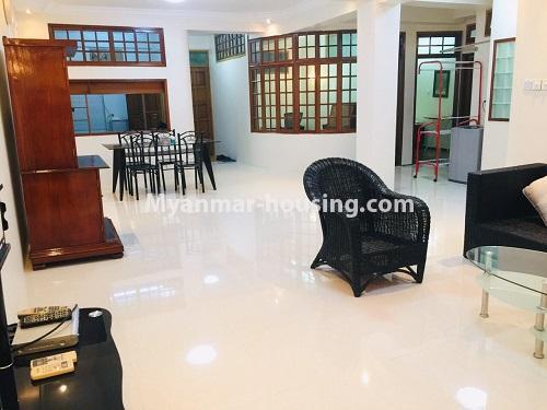 မြန်မာအိမ်ခြံမြေ - ငှားရန် property - No.4399 - တာမွေ ကန်တော်ကြီးဗျူးနှင့် ကွန်ဒိုအခန်းကောင်းကောင်း ငှားရန်ရှိသည်။another view of living room