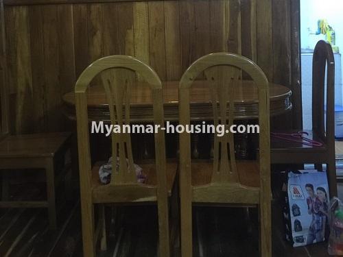 မြန်မာအိမ်ခြံမြေ - ငှားရန် property - No.4410 - မြောက်ဒဂုံတွင် ပရိဘောဂပါပြီး တိုက်ခန်းငှားရန် ရှိသည်။dining area
