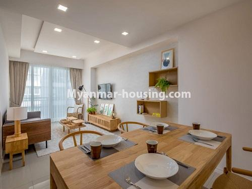 ミャンマー不動産 - 賃貸物件 - No.4426 - Luxurious condominium room with full facilities near Myanmar Plaza, Yankin! - living room