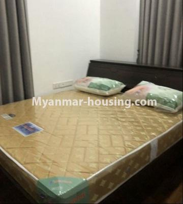 မြန်မာအိမ်ခြံမြေ - ငှားရန် property - No.4433 - မင်္ဂလာတောင်ညွန့် နေရာကောင်းတွင် ကန်သာယာ လူနေကွန်ဒိုခန်း ငှားရန်ရှိသည်။master bedroom