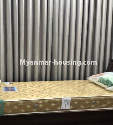 မြန်မာအိမ်ခြံမြေ - ငှားရန် property - No.4433 - မင်္ဂလာတောင်ညွန့် နေရာကောင်းတွင် ကန်သာယာ လူနေကွန်ဒိုခန်း ငှားရန်ရှိသည်။single bedroom