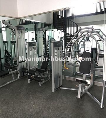 မြန်မာအိမ်ခြံမြေ - ငှားရန် property - No.4433 - မင်္ဂလာတောင်ညွန့် နေရာကောင်းတွင် ကန်သာယာ လူနေကွန်ဒိုခန်း ငှားရန်ရှိသည်။gym