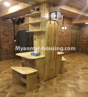 မြန်မာအိမ်ခြံမြေ - ငှားရန် property - No.4442 - ဗိုလ်တစ်ထောင်ဘုရားအနီးတွင် Share room ငှားရန်ရှိသည်။dining area