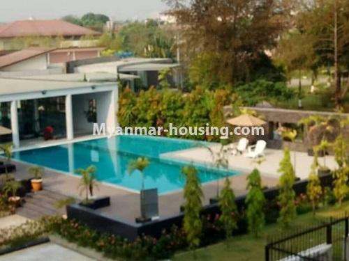 မြန်မာအိမ်ခြံမြေ - ငှားရန် property - No.4448 - မြောက်ဒဂုံတွင် ပတ်၀န်ကျင်ကောင်းပြီး နေချင်စဖွယ်ပြင်ဆင်ထားသော ကွန်ဒိုခန်းသစ် ငှားရန်ရှိသည်။swimming pool