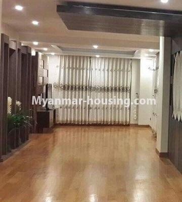 Myanmar real estate - for rent property - No.4449 - Green Lake Condominium room with Kandawgyi Lake View for rent in Mingalar Taung Nyunt! - living room