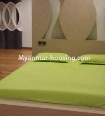 Myanmar real estate - for rent property - No.4449 - Green Lake Condominium room with Kandawgyi Lake View for rent in Mingalar Taung Nyunt! - master bedroom 1