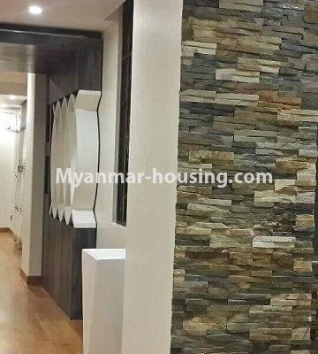Myanmar real estate - for rent property - No.4449 - Green Lake Condominium room with Kandawgyi Lake View for rent in Mingalar Taung Nyunt! - kitchen wall decoration