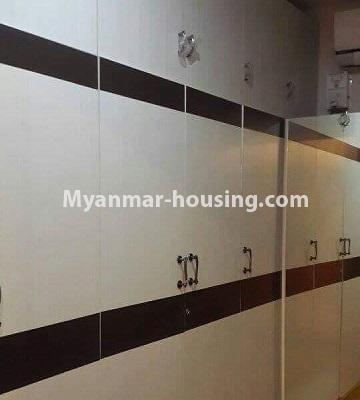 Myanmar real estate - for rent property - No.4449 - Green Lake Condominium room with Kandawgyi Lake View for rent in Mingalar Taung Nyunt! - wardrobe in bedroom