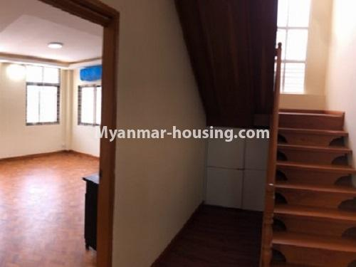 缅甸房地产 - 出租物件 - No.4454 - Two houses for rent in Hlaing! - stairs view