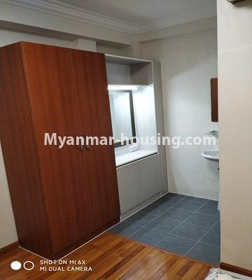 Myanmar real estate - for rent property - No.4456 - Penthouse with beautiful decoration and full furniture for rent in the Heart of Yangon! - wardrobe in bedroom