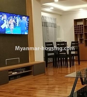 Myanmar real estate - for rent property - No.4456 - Penthouse with beautiful decoration and full furniture for rent in the Heart of Yangon! - anothr view of living room