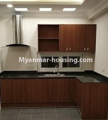 Myanmar real estate - for rent property - No.4456 - Penthouse with beautiful decoration and full furniture for rent in the Heart of Yangon! - kitchen
