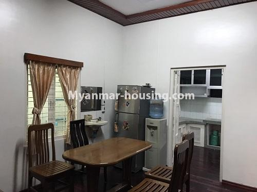 Myanmar real estate - for rent property - No.4457 - Landed house with five master bedrooms for rent in Kamaryut! - dining area