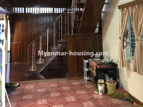 Myanmar real estate - for rent property - No.4457 - Landed house with five master bedrooms for rent in Kamaryut! - downstairs view
