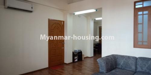 မြန်မာအိမ်ခြံမြေ - ငှားရန် property - No.4458 - မြို့ထဲ ပရိဘောဂပါသည့် ကွန်ဒိုခန်း ငှားရန်ရှိသည်။ room layout
