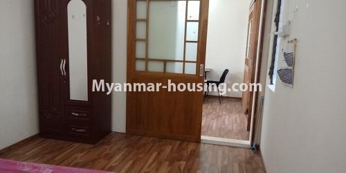 မြန်မာအိမ်ခြံမြေ - ငှားရန် property - No.4458 - မြို့ထဲ ပရိဘောဂပါသည့် ကွန်ဒိုခန်း ငှားရန်ရှိသည်။ master bedroom
