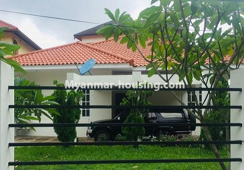 Myanmar real estate - for rent property - No.4460 - One storey furnished landed house for rent near Inya Lake! - house view