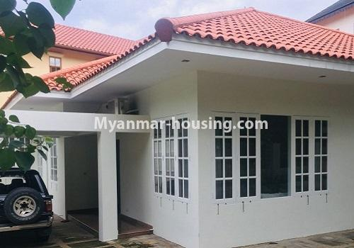 Myanmar real estate - for rent property - No.4460 - One storey furnished landed house for rent near Inya Lake! - another view of the house