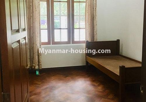 Myanmar real estate - for rent property - No.4460 - One storey furnished landed house for rent near Inya Lake! - bedroom