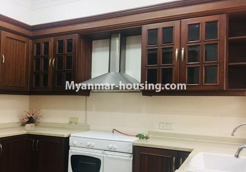 Myanmar real estate - for rent property - No.4460 - One storey furnished landed house for rent near Inya Lake! - kitchen